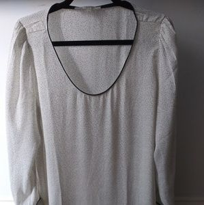 LOFT long sleeve blouse with button cuff